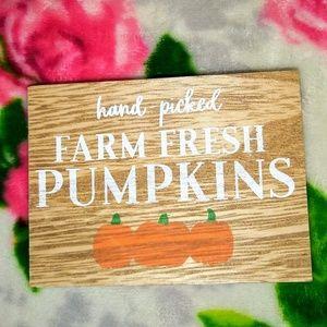 Farm Fresh PUMPKINS Patch Mini Wood Sign
